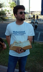 "A hate group consisting of well-known ""street preachers"" showed up at Tempe mosque, desecrating a Qur'an and confronting worshipers."
